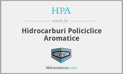 PAH - Hidrocarburi Policiclice Aromatice
