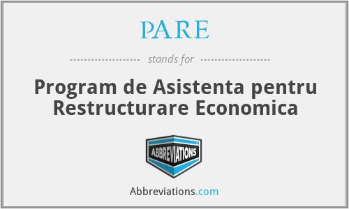 PHARE - Program De Asistenta Pentru Restructurare Economica
