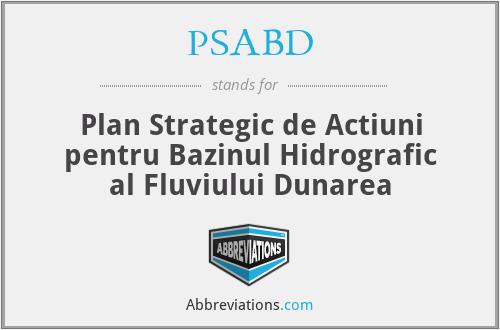 PSABD - Plan Strategic De Actiuni Pentru Bazinul Hidrografic Al Fluviului Dunarea