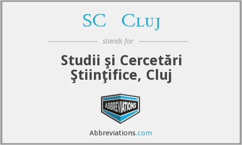 What does SCŞ CLUJ stand for?