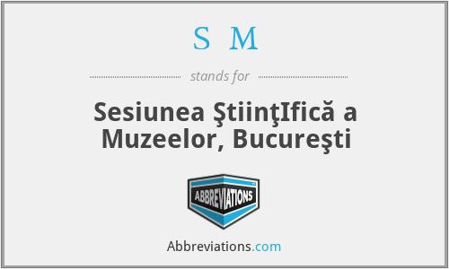 SŞM - Sesiunea ŞtiinţIfică a Muzeelor, Bucureşti