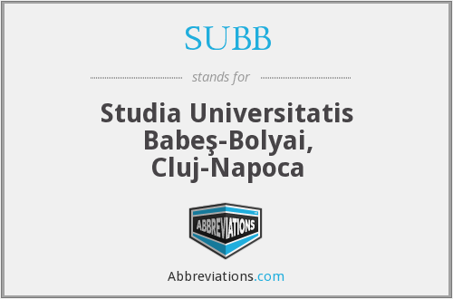 What does SUBB stand for?
