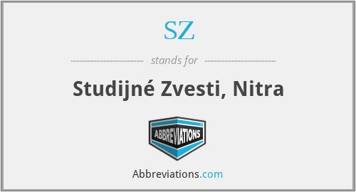 SZ - Studijné Zvesti, Nitra