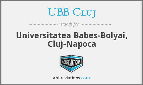 What does UBB CLUJ stand for?