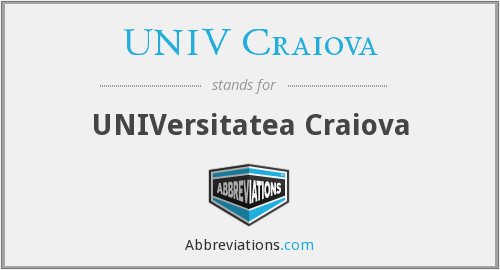 What does UNIV CRAIOVA stand for?