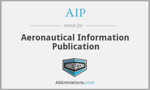 AIP - Aeronautical Information Publication
