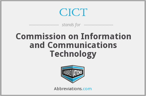 CICT - Commission on Information and Communications Technology