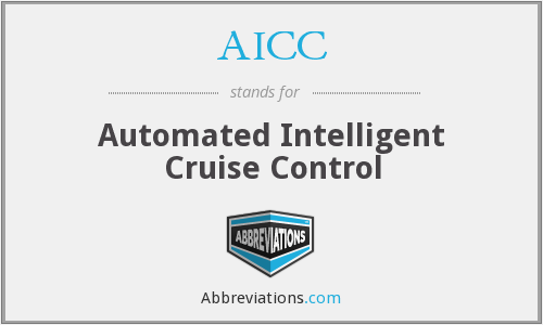 AICC - Automated Intelligent Cruise Control