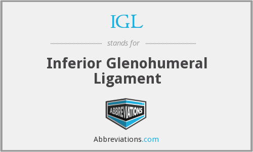 IGL - Inferior Glenohumeral Ligament
