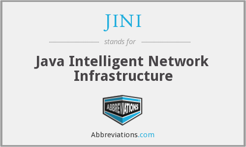 JINI - Java Intelligent Network Infrastructure