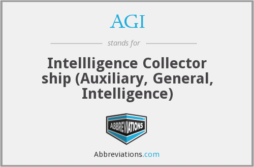 AGI - Intellligence Collector ship (Auxiliary, General, Intelligence)