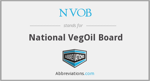 NVOB - National VegOil Board