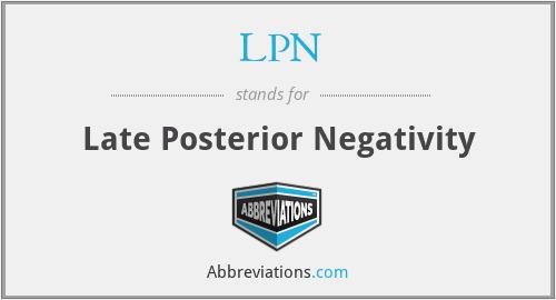 LPN - Late Posterior Negativity