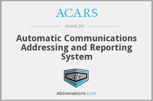 ACARS - Automatic Communications Addressing and Reporting System