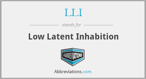 LLI - Low Latent Inhabition