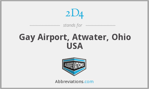 2D4 - Gay Airport, Atwater, Ohio USA