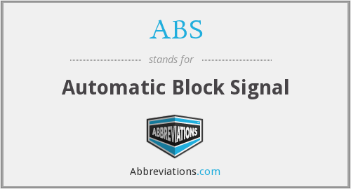 ABS - Automatic Block Signal