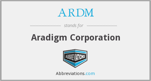 ARDM - Aradigm Corporation