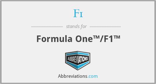 F1 - Formula One™/F1™