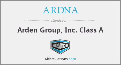 What does ARDNA stand for?