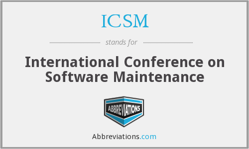 ICSM - International Conference on Software Maintenance