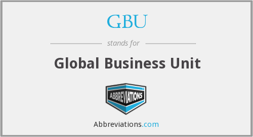 GBU - Global Business Unit