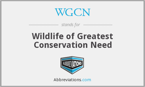 WGCN - Wildlife of Greatest Conservation Need