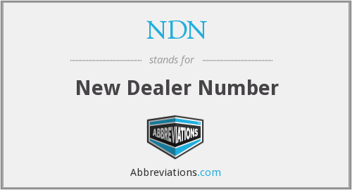 NDN - New Dealer Number