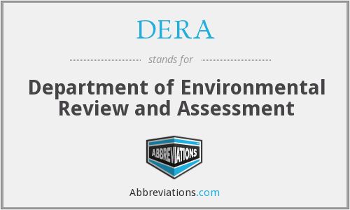 DERA - Department of Environmental Review and Assessment