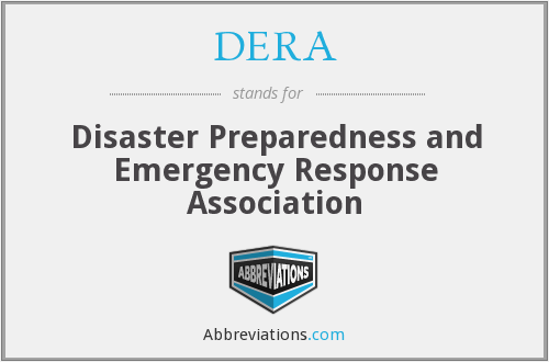 DERA - Disaster Preparedness and Emergency Response Association