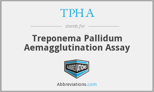 TPHA - Treponema Pallidum Aemagglutination Assay