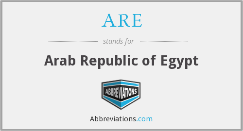 ARE - Arab Republic of Egypt