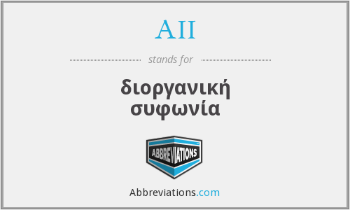 AII - διοργανική συφωνία