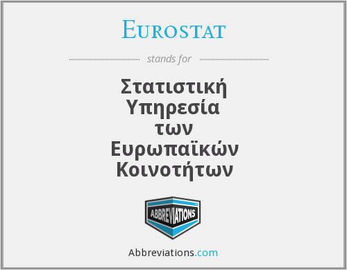 What does EUROSTAT stand for?