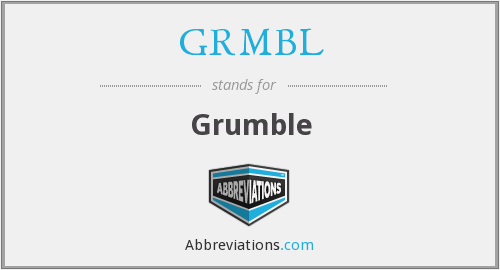 What does GRMBL stand for?