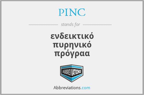PINC - ενδεικτικό πυρηνικό πρόγραα