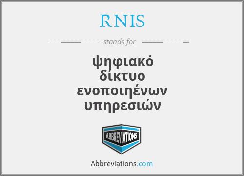 RNIS - ψηφιακό δίκτυο ενοποιηένων υπηρεσιών