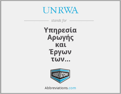 What does UNRWA stand for?