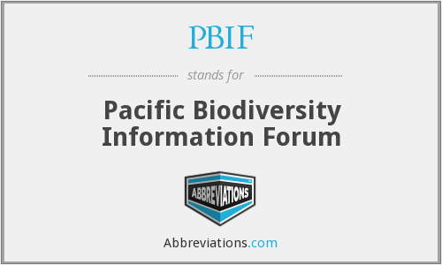 PBIF - Pacific Biodiversity Information Forum
