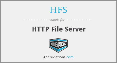 HFS - HTTP File Server