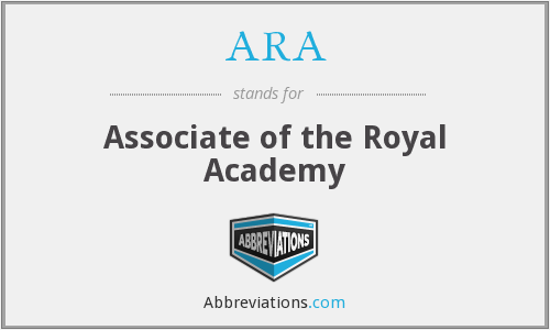 ARA - Associate of the Royal Academy