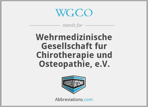 WGCO - Wehrmedizinische Gesellschaft fur Chirotherapie und Osteopathie, e.V.