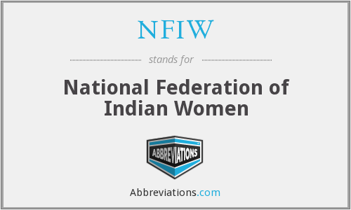 NFIW - National Federation of Indian Women