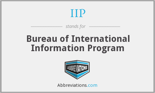 IIP - Bureau of International Information Program
