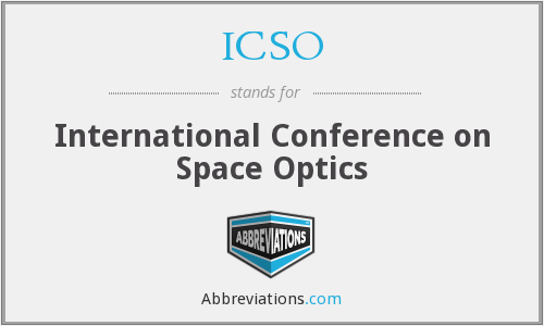 ICSO - International Conference on Space Optics