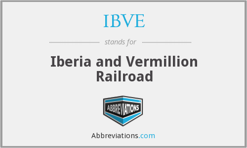 IBVE - Iberia and Vermillion Railroad