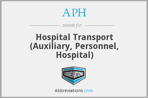 APH - Hospital Transport (Auxiliary, Personnel, Hospital)
