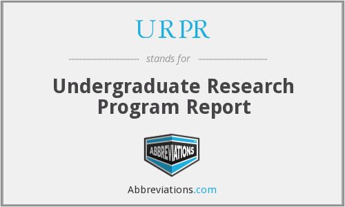 URPR - Undergraduate Research Program Report