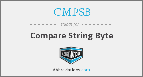 What does CMPSB stand for?