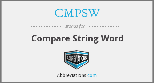 What does CMPSW stand for?
